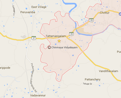 map of tattamangalam thathamangalam